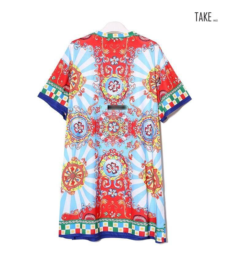 New Fashion Style Floral Printed Beach Dress Fashion Nova Clothing