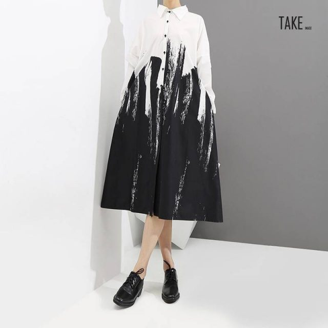 New Fashion Style Tie-Dyed Print Dress Fashion Nova Clothing TAKE IMAGE