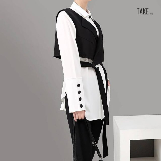 New Fashion Style Two Piece Set Blouse Shirt And Vest Fashion Nova Clothing TAKE IMAGE