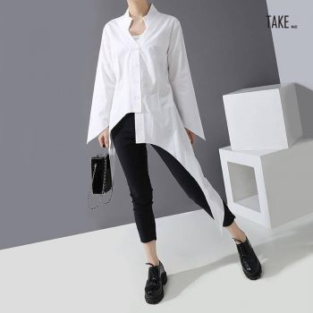New Fashion Style Casual Hipster Asymmetrical Blouse Fashion Nova Clothing TAKE IMAGE