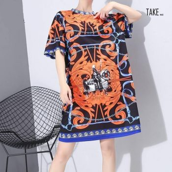 New Fashion Style Summer Multi Color Printed Dress Fashion Nova Clothing TAKE IMAGE