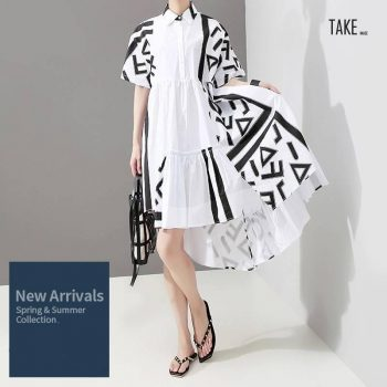 New Fashion Style Geometric Printed Plus Size Casual Dress Fashion Nova Clothing TAKE IMAGE