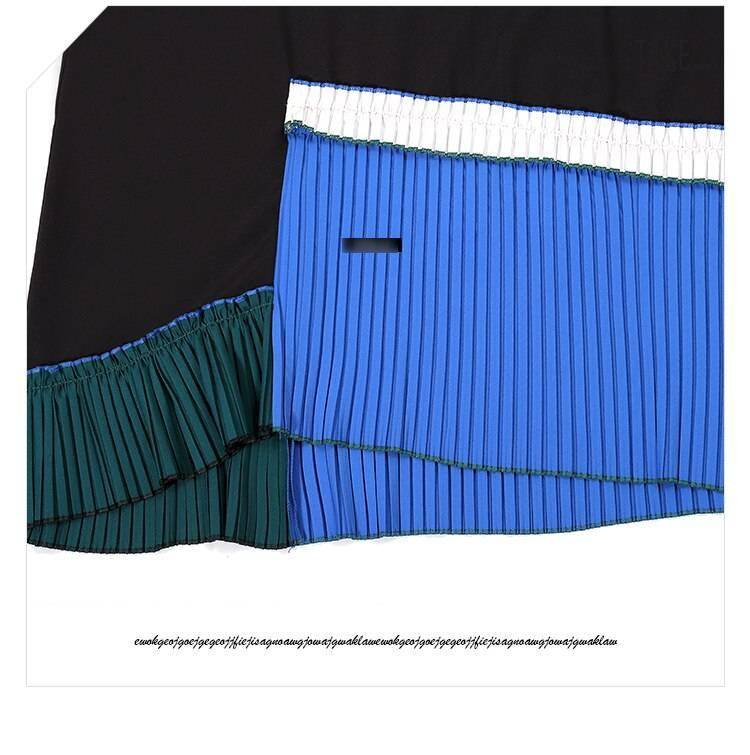 New Fashion Style Blue Patchwork Sun Dress Fashion Nova Clothing