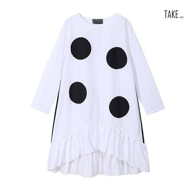 New Fashion Style Large Dots Patches Dress Fashion Nova Clothing