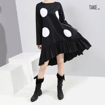 New Fashion Style Large Dots Patches Dress Fashion Nova Clothing TAKE IMAGE