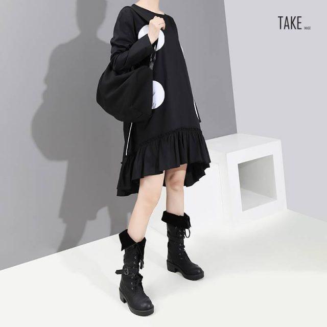 New Fashion Style Large Dots Patches Dress Fashion Nova Clothing TAKE IMAGE