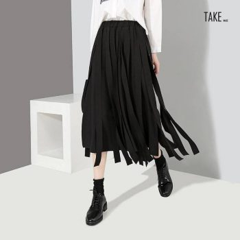 New Fashion Style A-Line Many Tapes Elastic Waist Skirts Fashion Nova Clothing TAKE IMAGE