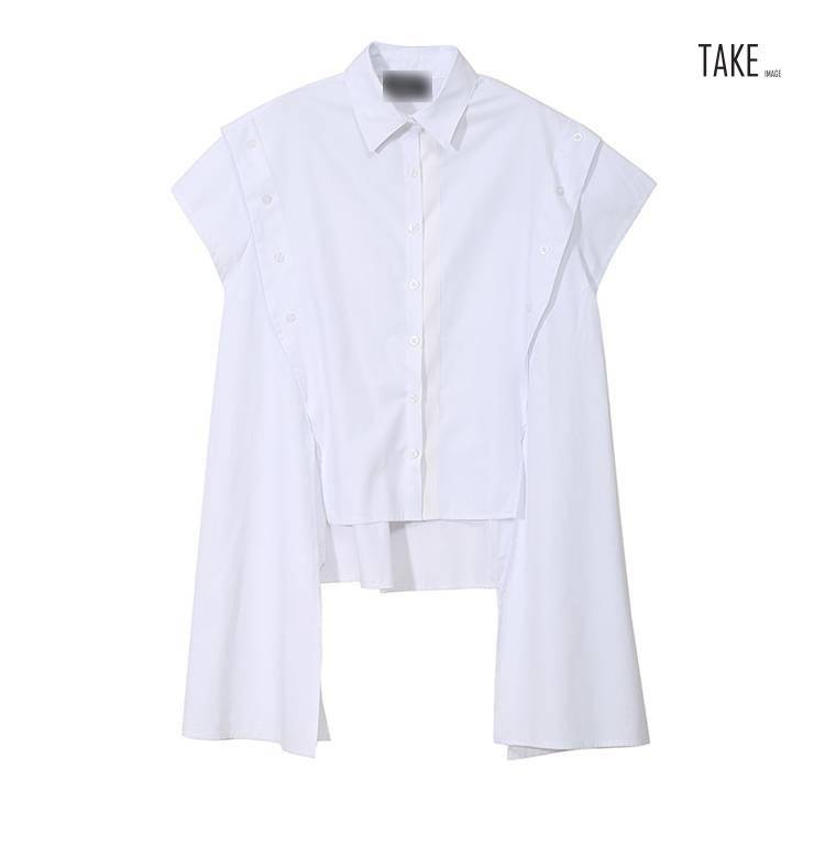 New Fashion Style Side Buttons Decorated Blouses Fashion Nova Clothing