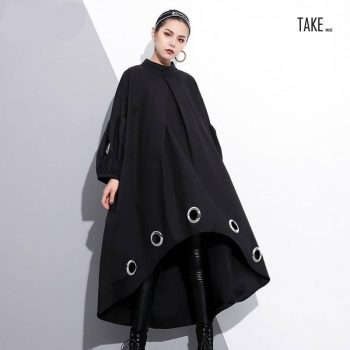 New Fashion Style Metal Ring Big Size Hollow Out Dress Fashion Nova Clothing TAKE IMAGE