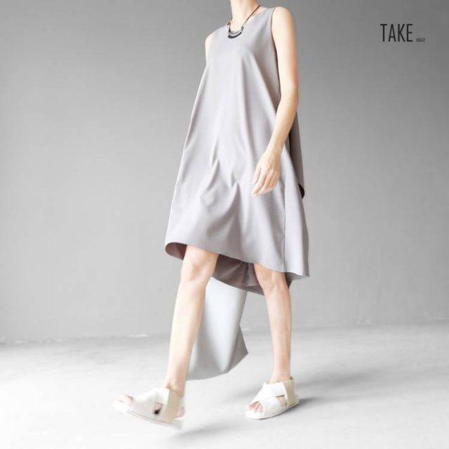 New Fashion Style Black Irregular Hem Brief Loose Dress Fashion Nova Clothing TAKE IMAGE