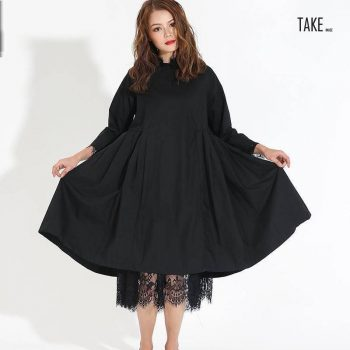 New Fashion Style Black Pleated Lace Two Piece Dress Fashion Nova Clothing TAKE IMAGE