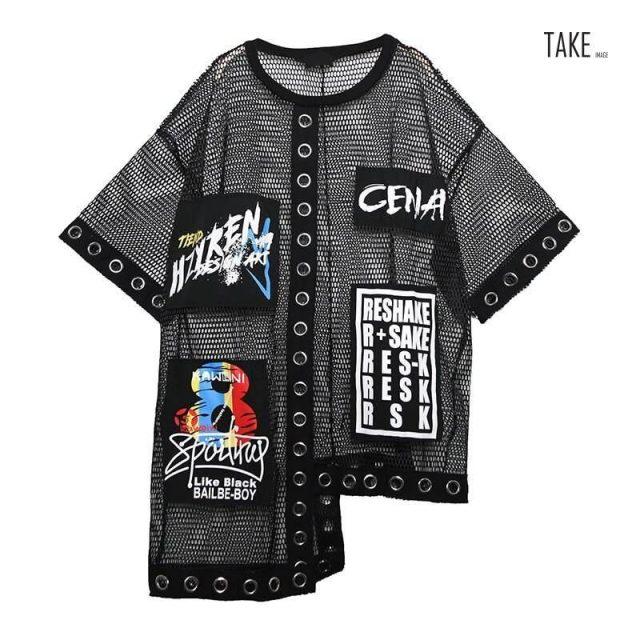 New Fashion Style Hollow Out Splice Grid Shirt Blouse Fashion Nova Clothing TAKE IMAGE