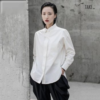 New Fashion Style White Split Joint Temperament Blouse Fashion Nova Clothing TAKE IMAGE