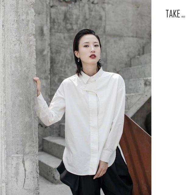 New Fashion Style White Split Joint Temperament Blouse Fashion Nova Clothing TAKE IMAGE