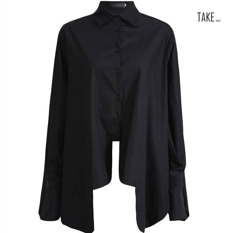 New Fashion Style Pleated Big Size Irregular Blouse Fashion Nova Clothing