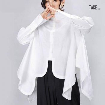 New Fashion Style Pleated Big Size Irregular Blouse Fashion Nova Clothing TAKE IMAGE