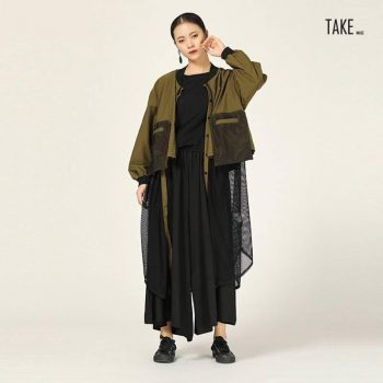 New Fashion Style Mesh Spliced Hollow Out Trench Shirt TAKE IMAGE