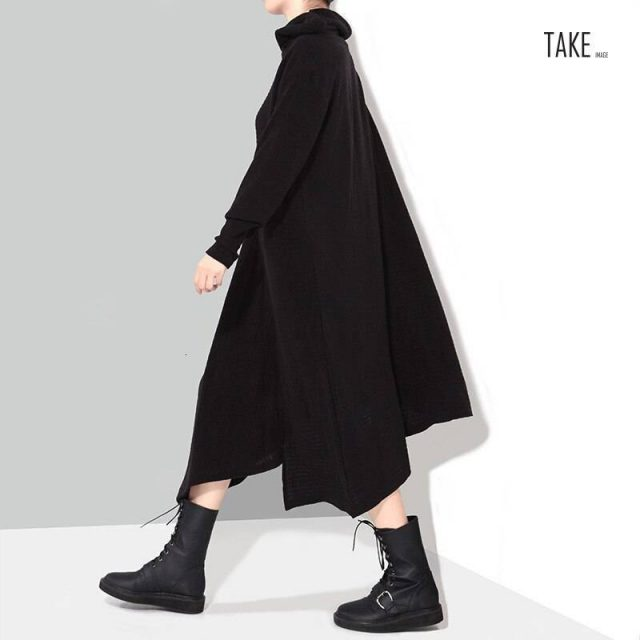 New Fashion style Asymmetrical Long Knitting Big Size Dress Fashion Nova Clothing TAKE IMAGE