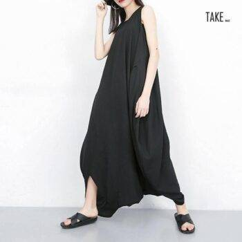 New Fashion Jumpsuit Baggy Unique Loose Style Ladies Overalls Harem Pants TAKE IMAGE