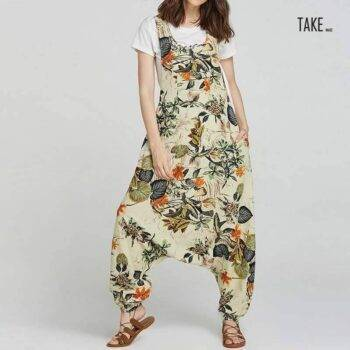 New Fashion Plus Size Overalls Women's Drop-Crotch Jumpsuits TAKE IMAGE